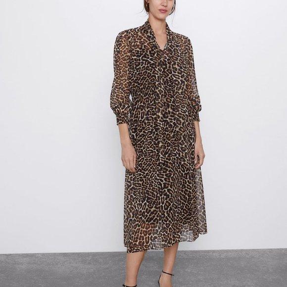 Zara Dresses & Skirts - Zara Animal Print Dress
